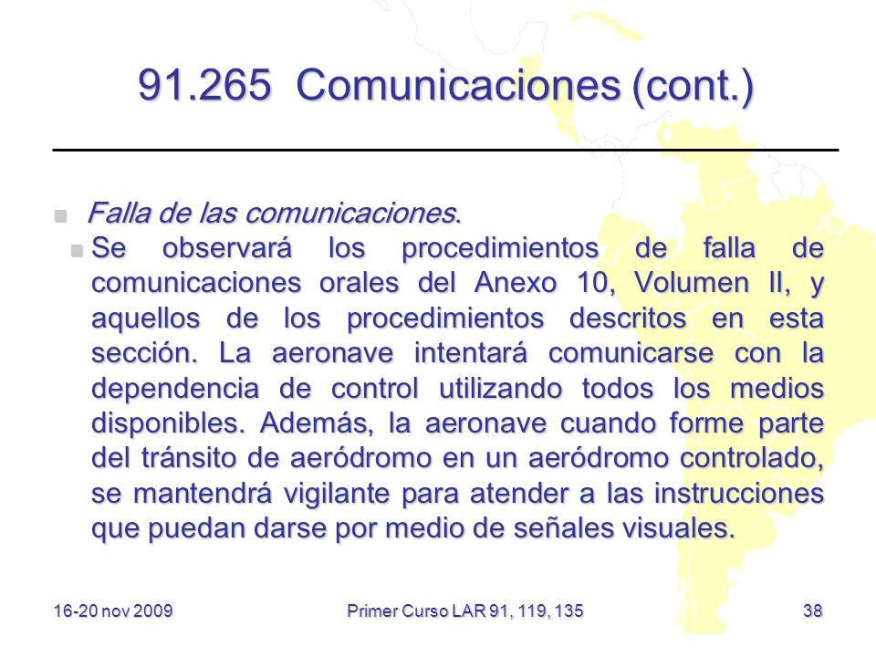 91.265 Comunicaciones (cont.)