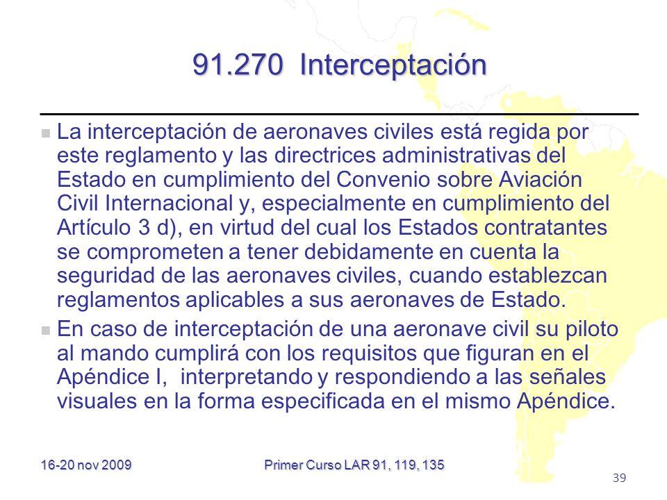 91.270 Interceptación