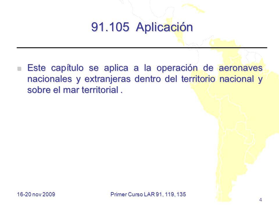 91.105 Aplicación