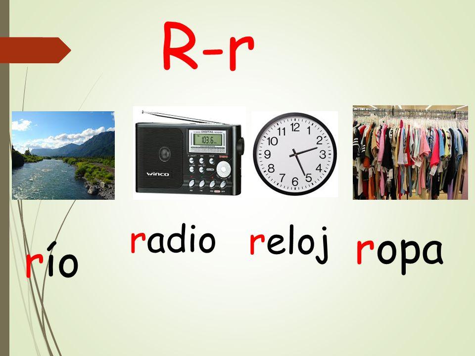 R-r radio reloj ropa río