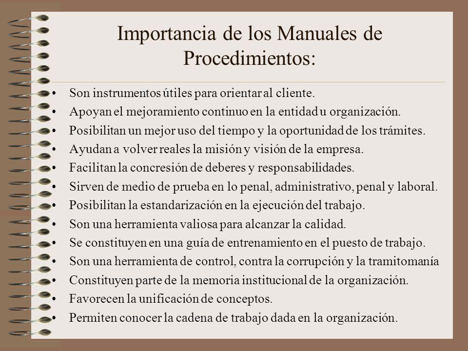 Los manuales de procedimientos y la importancia de su for Manual de procedimientos de una empresa de alimentos