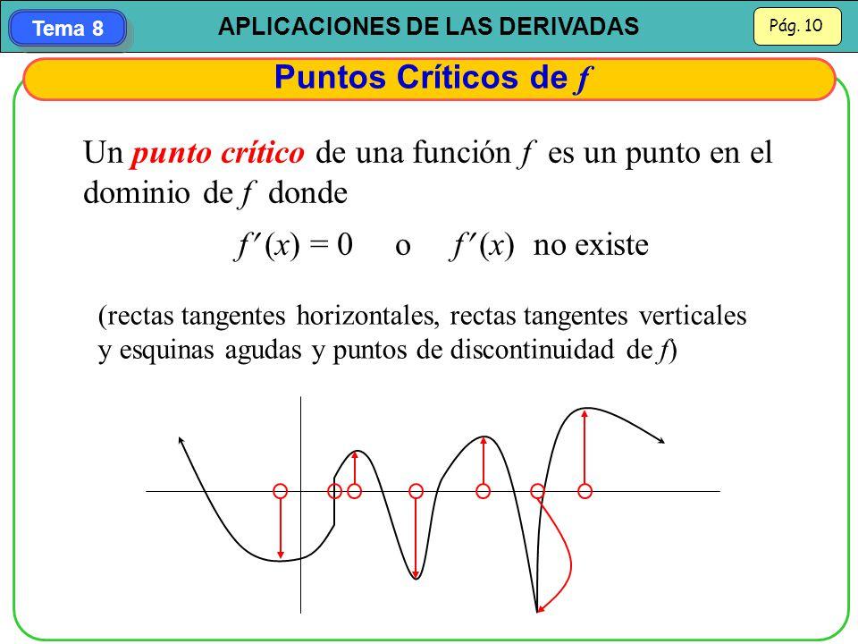 f (x) = 0 o f (x) no existe