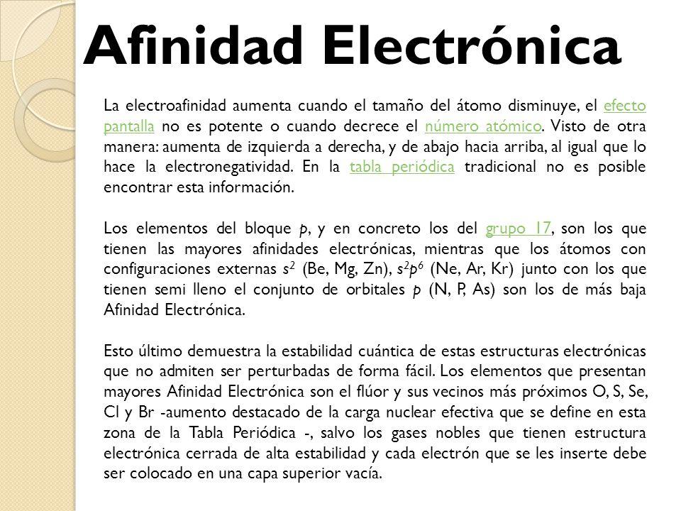 Tabla peridica y enlaces qumicos ing santiago figueroa lorenzo 29 afinidad electrnica urtaz Gallery