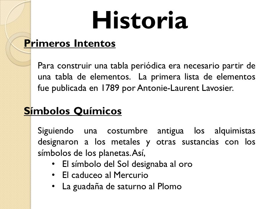 Tabla peridica y enlaces qumicos ing santiago figueroa lorenzo 5 historia primeros intentos smbolos qumicos urtaz Images