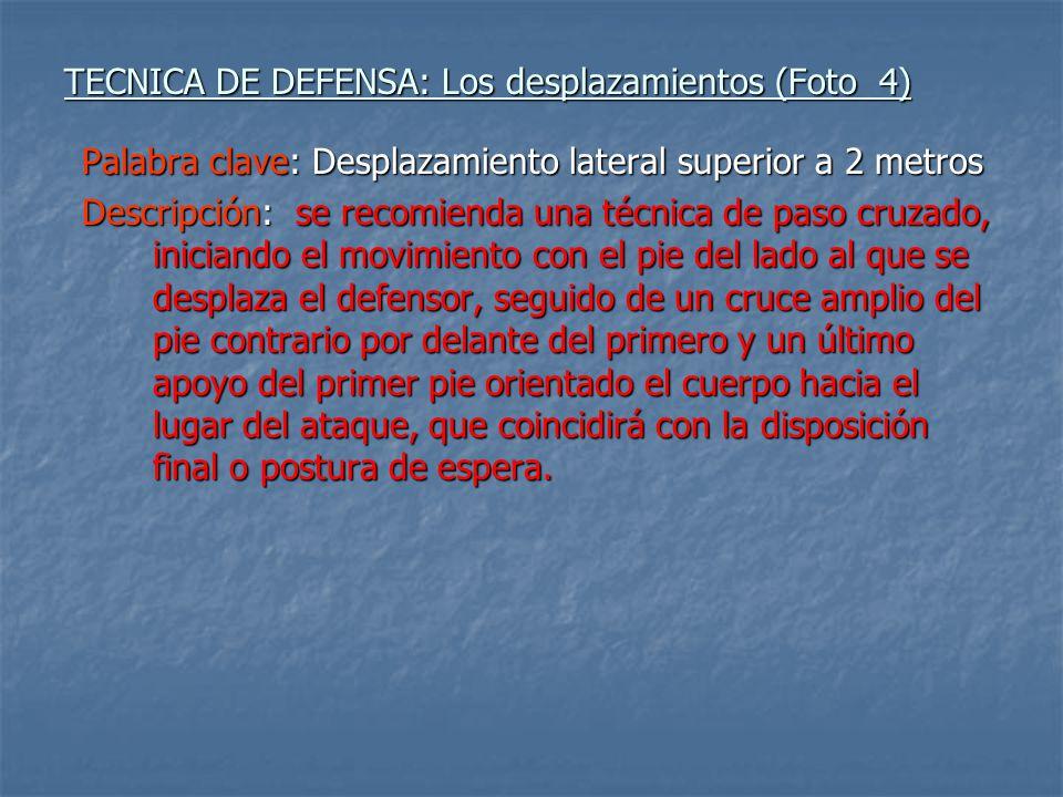 TECNICA DE DEFENSA: Los desplazamientos (Foto 4)