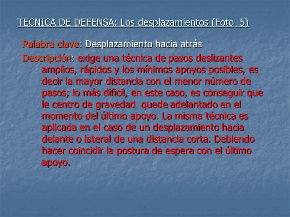 TECNICA DE DEFENSA: Los desplazamientos (Foto 5)
