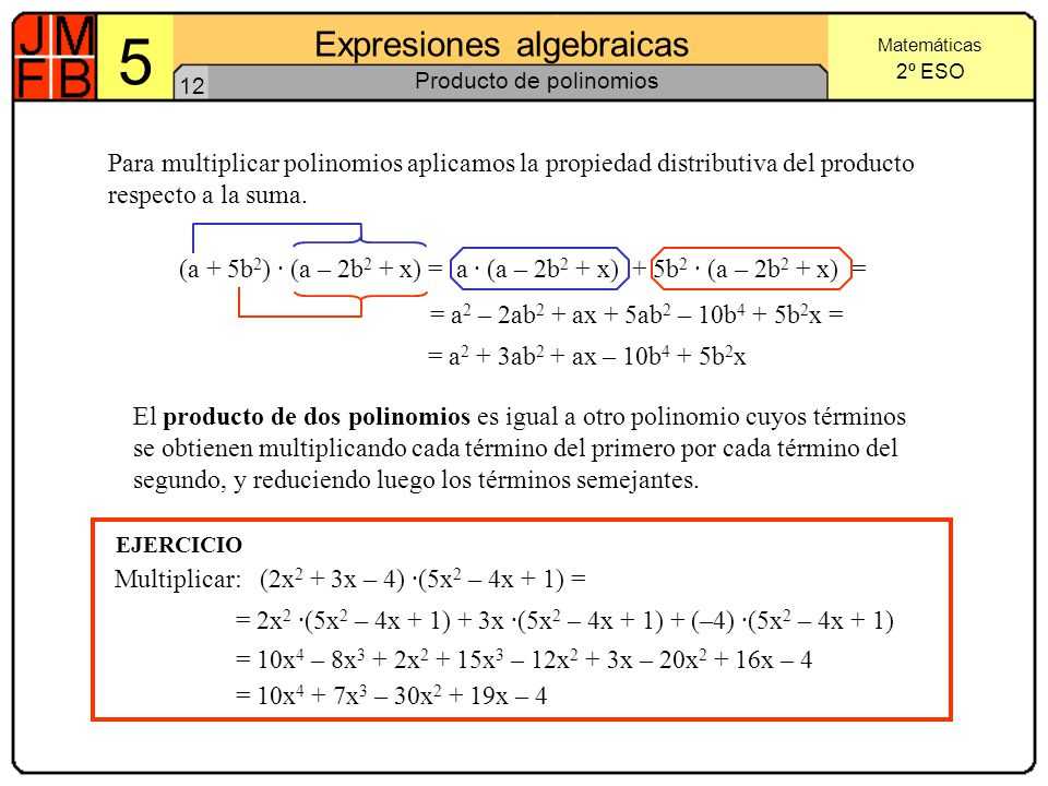Producto de polinomios
