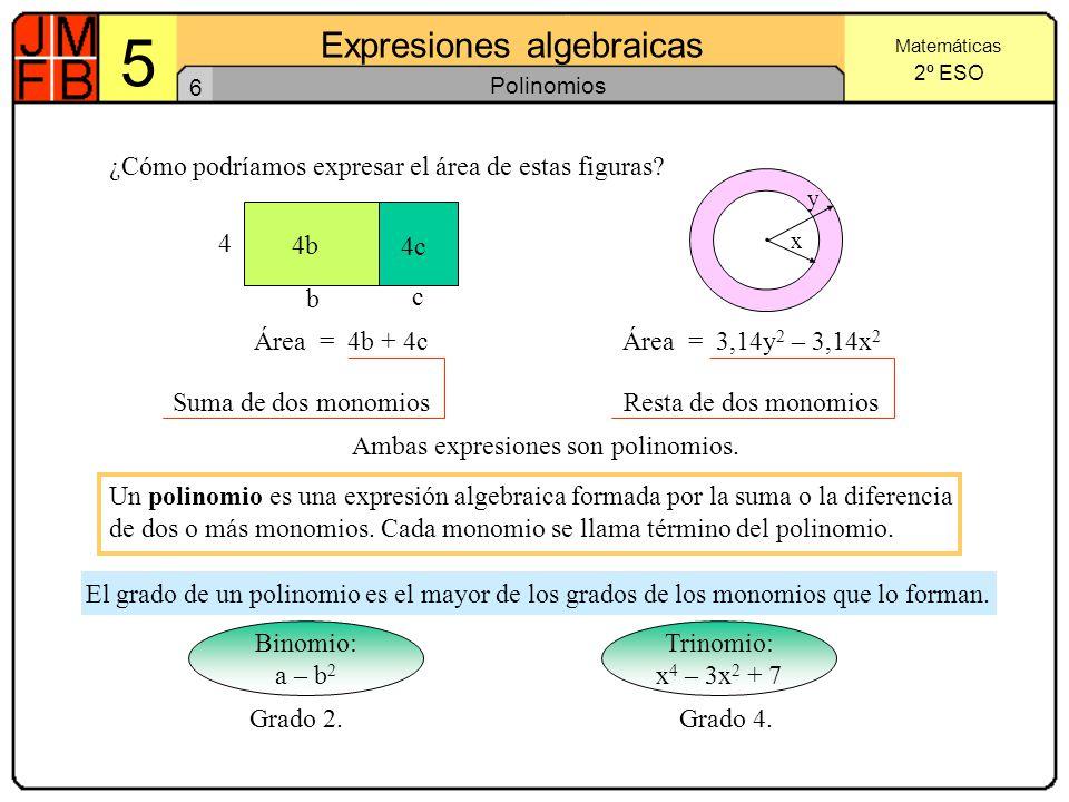 5 Expresiones algebraicas ·