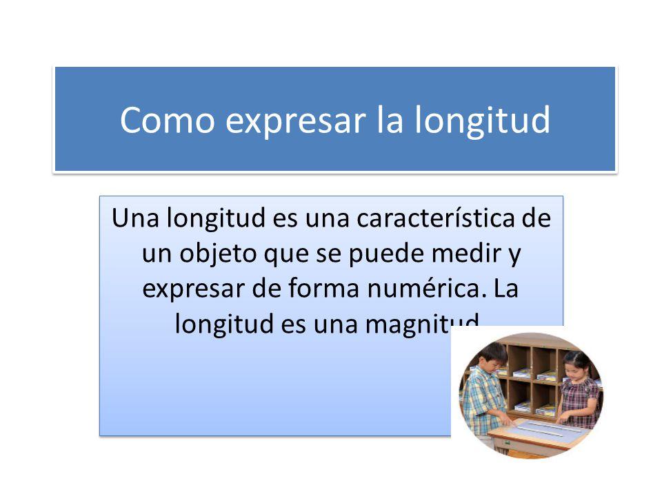 Como expresar la longitud