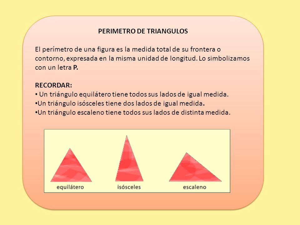 PERIMETRO DE TRIANGULOS