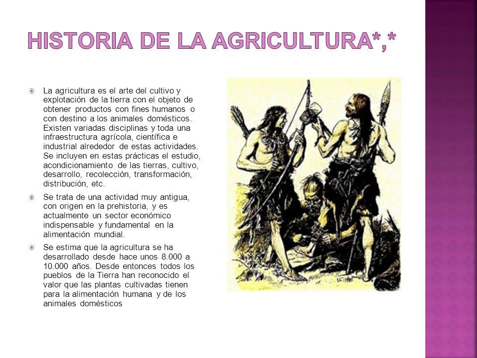 Historia de la agricultura*,*
