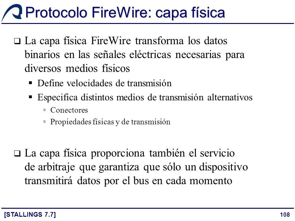 Protocolo FireWire: capa física