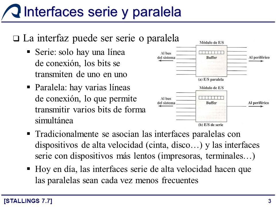 Interfaces serie y paralela
