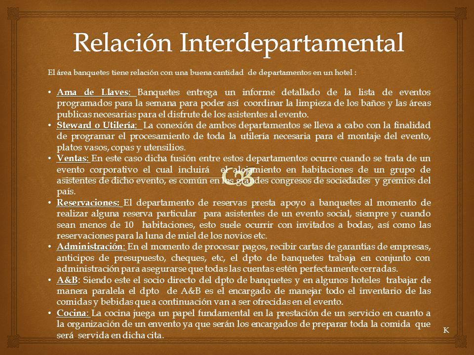 Relación Interdepartamental