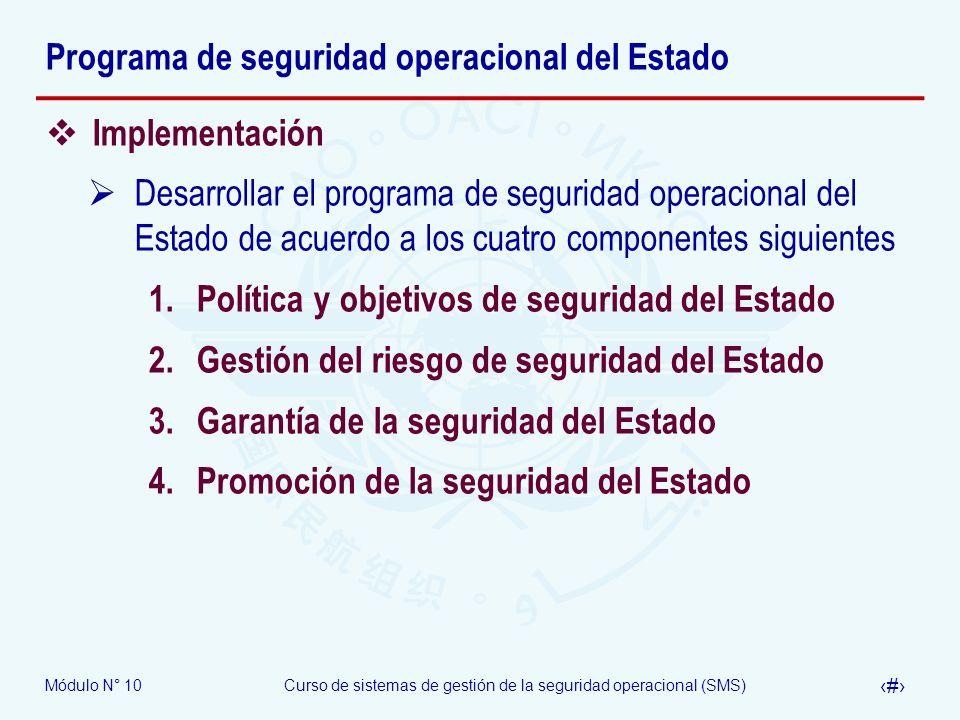 Programa de seguridad operacional del Estado