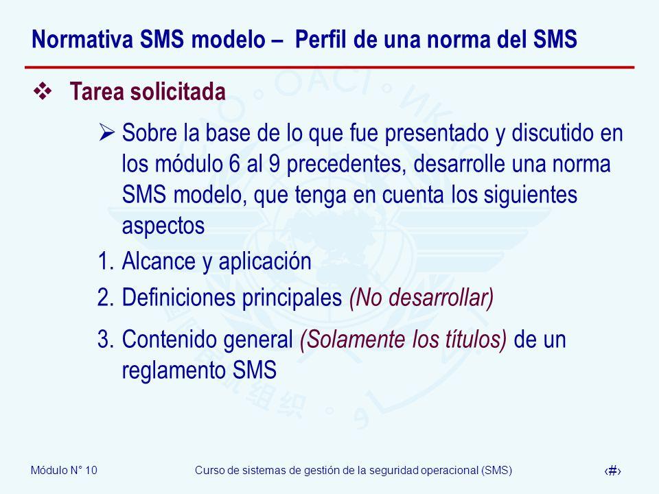 Normativa SMS modelo – Perfil de una norma del SMS