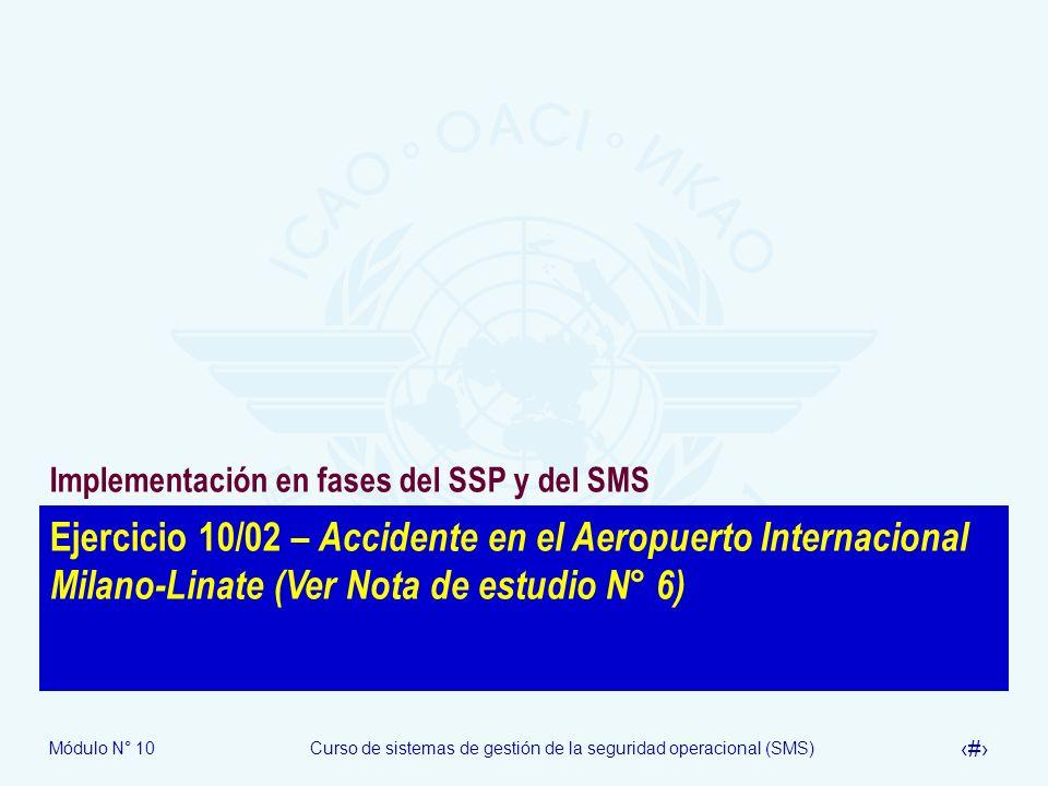Implementación en fases del SSP y del SMS