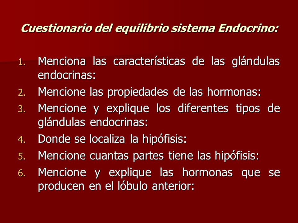 Increíble Anatomía Y Fisiología Del Sistema Endocrino Cuestionario ...