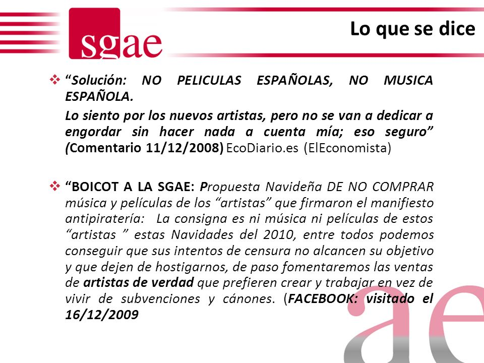 Lo que se dice Solución: NO PELICULAS ESPAÑOLAS, NO MUSICA ESPAÑOLA.