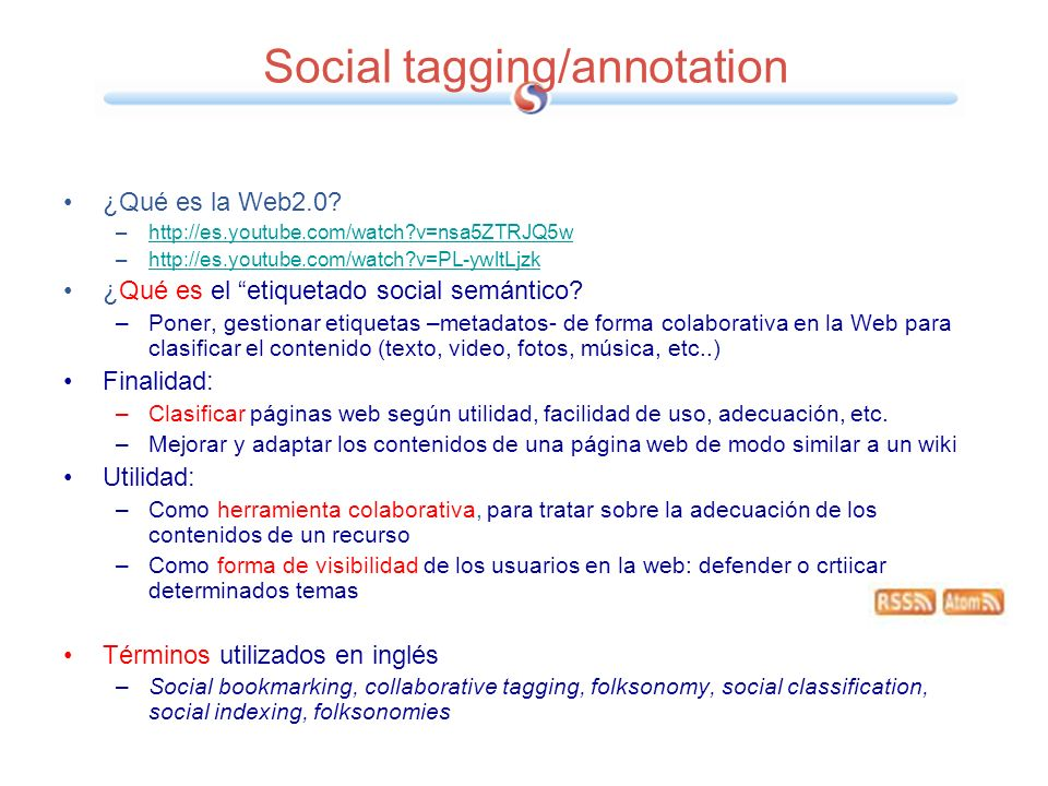 Social tagging/annotation