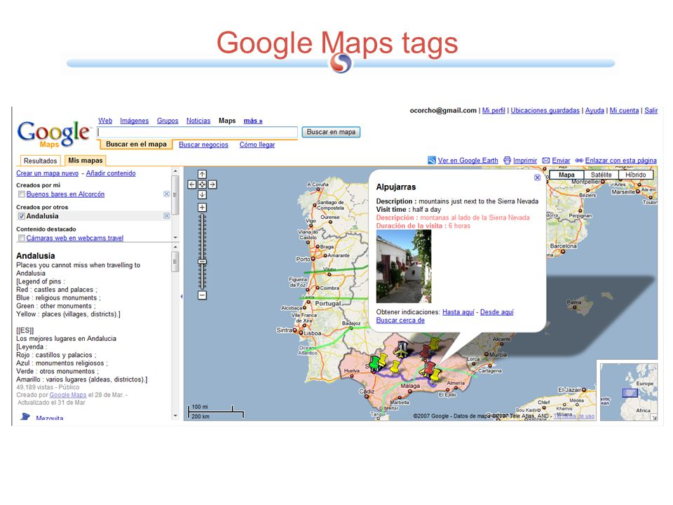 Google Maps tags