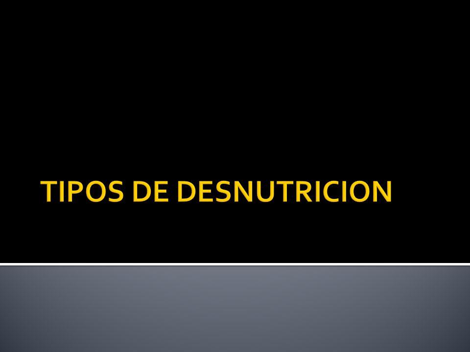 TIPOS DE DESNUTRICION