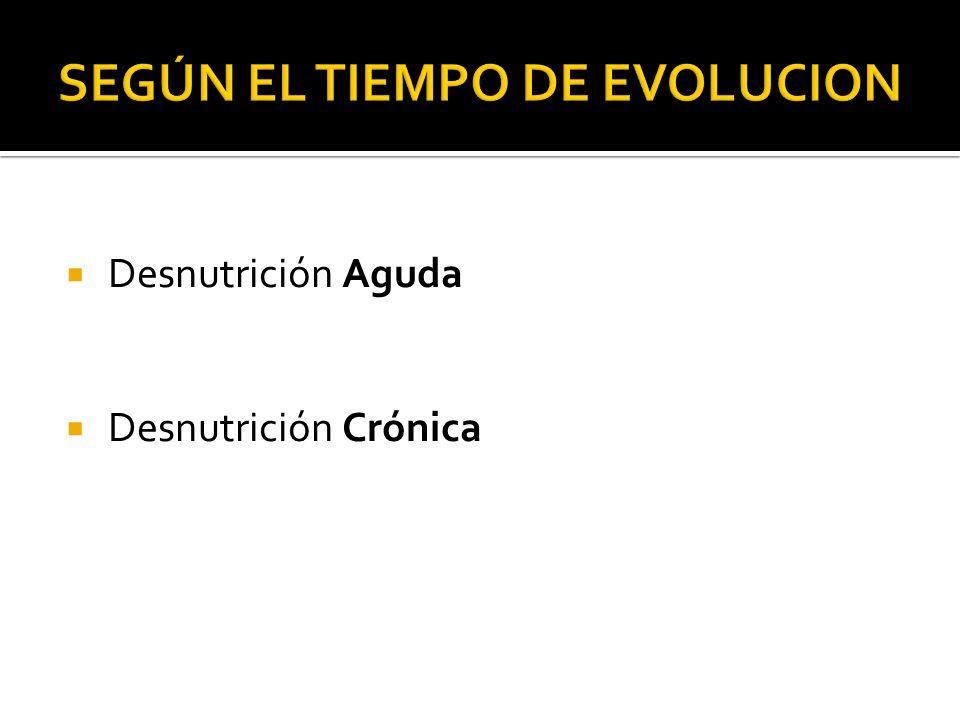 SEGÚN EL TIEMPO DE EVOLUCION