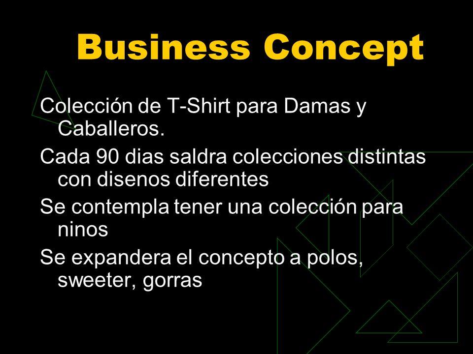 Business Concept Colección de T-Shirt para Damas y Caballeros.