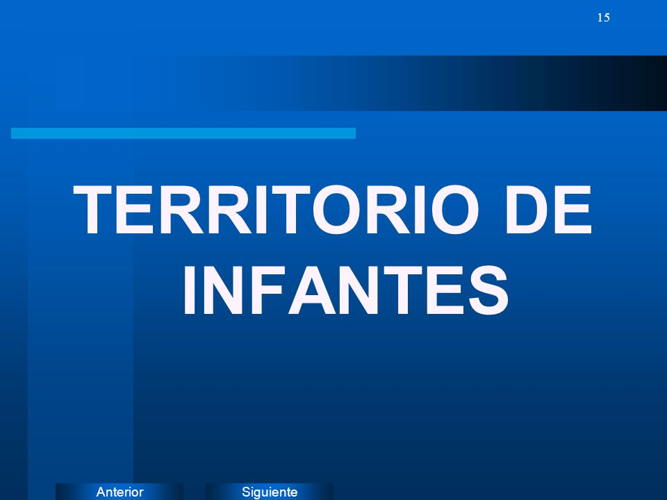 TERRITORIO DE INFANTES