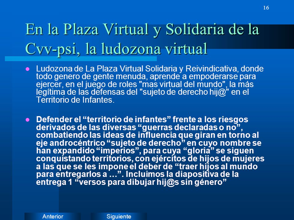 En la Plaza Virtual y Solidaria de la Cvv-psi, la ludozona virtual