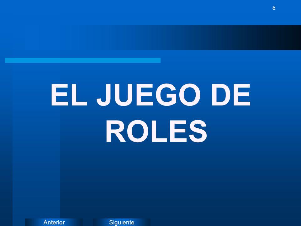EL JUEGO DE ROLES