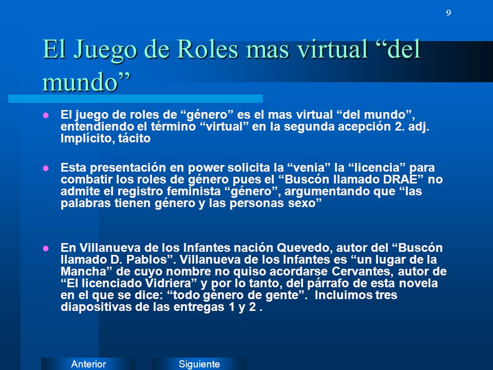 El Juego de Roles mas virtual del mundo