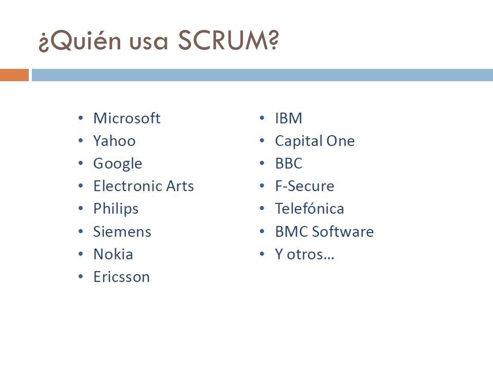 ¿Quién usa SCRUM