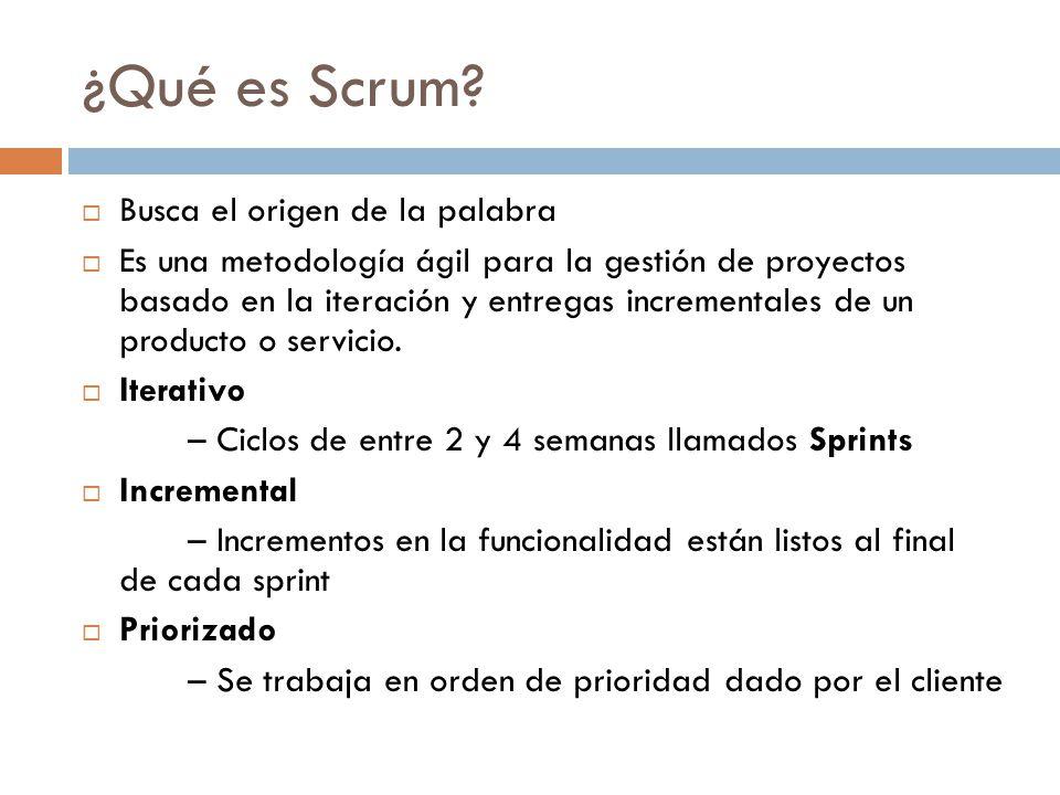 ¿Qué es Scrum Busca el origen de la palabra
