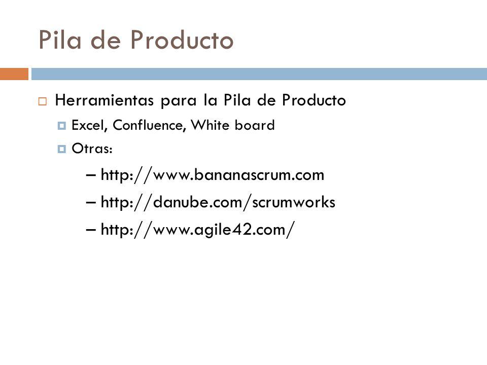 Pila de Producto Herramientas para la Pila de Producto