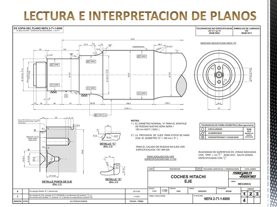 lectura e interpretacion de planos ppt video online