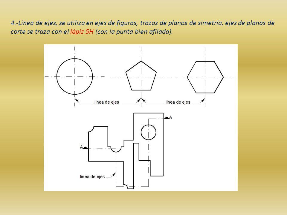 Tipo de l neas en dibujo t cnico ppt descargar for Planos en linea