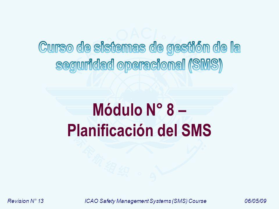 Módulo N° 8 – Planificación del SMS