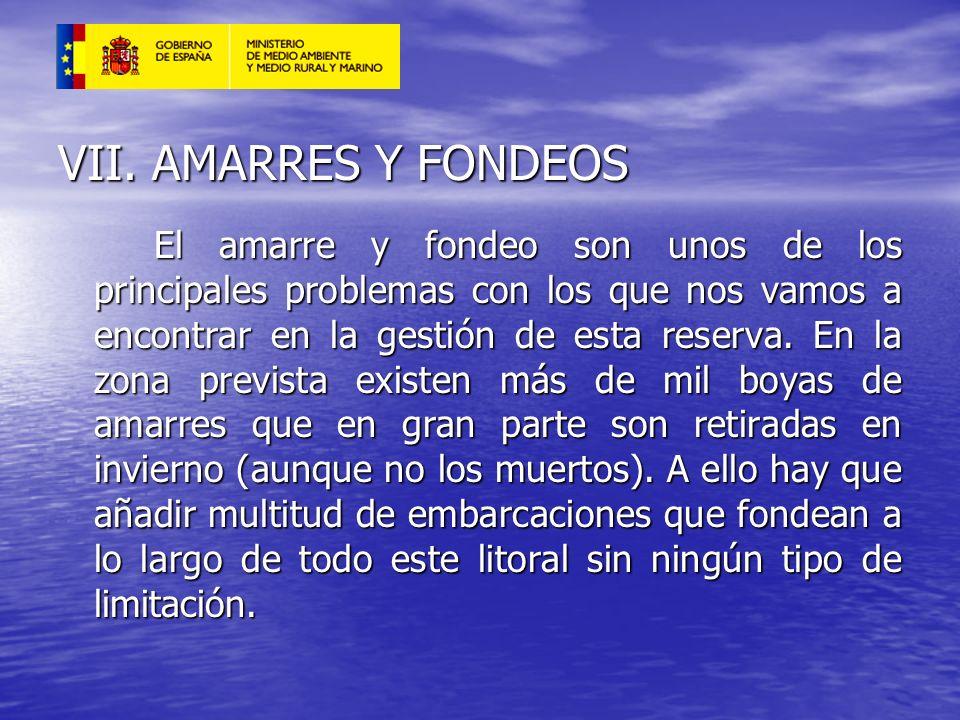 VII. AMARRES Y FONDEOS