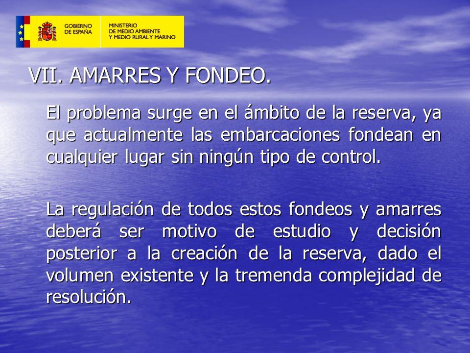 VII. AMARRES Y FONDEO.