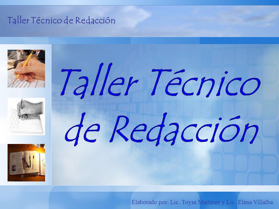 Taller Técnico de Redacción