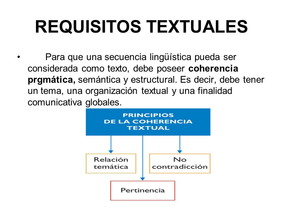 REQUISITOS TEXTUALES