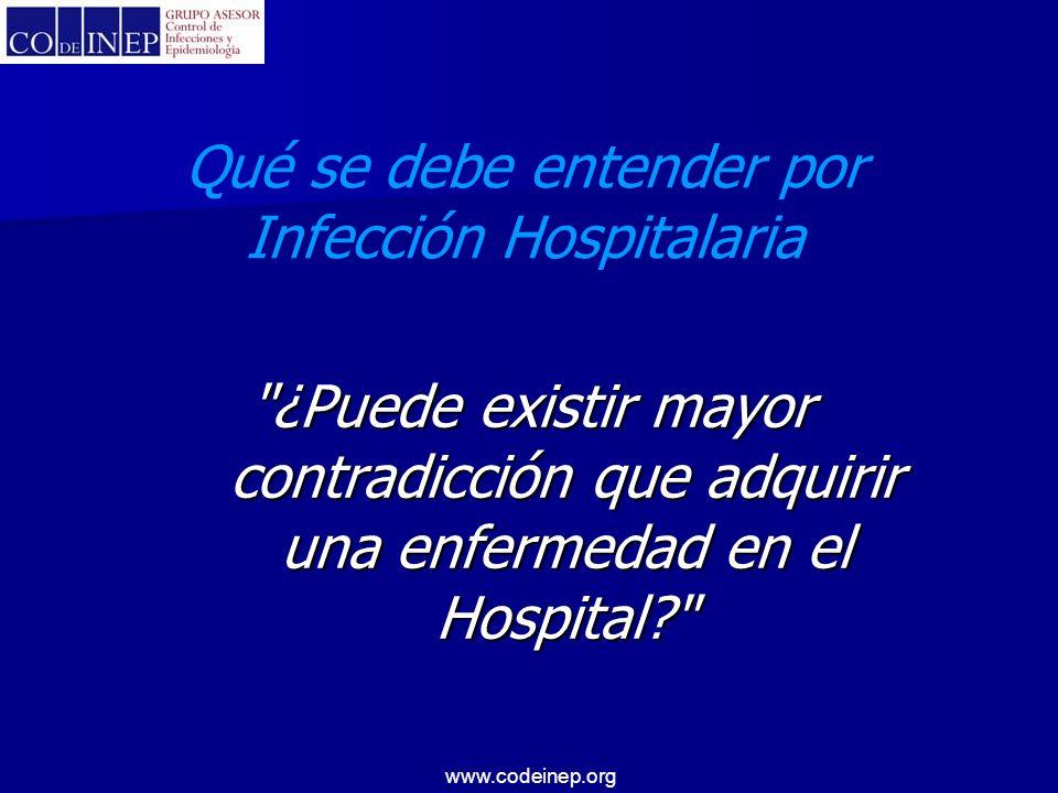 Qué se debe entender por Infección Hospitalaria