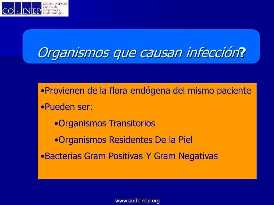 Organismos que causan infección