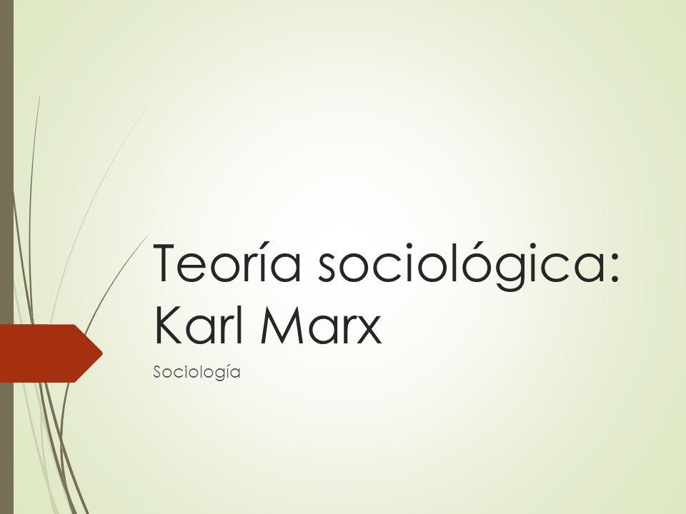 Teoría sociológica: Karl Marx