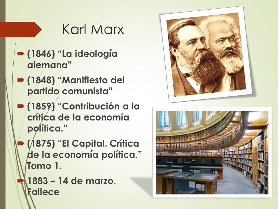 Karl Marx (1846) La ideología alemana