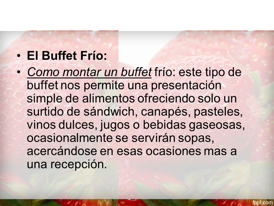 El Buffet Frío:
