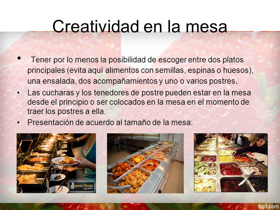 Creatividad en la mesa