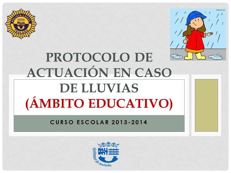 PROTOCOLO de actuación en caso de lluvias (ámbito educativo)