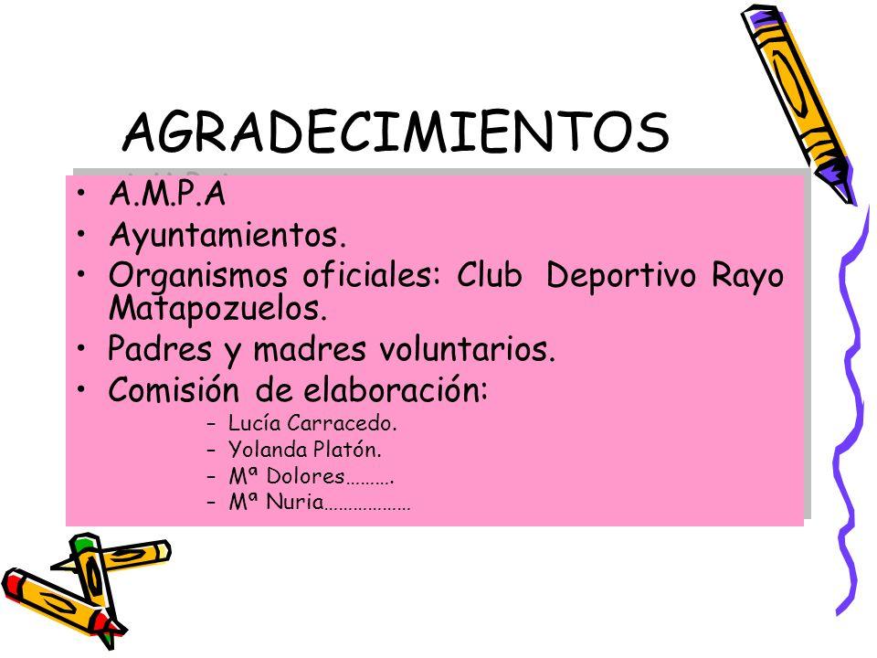 AGRADECIMIENTOS A.M.P.A Ayuntamientos.